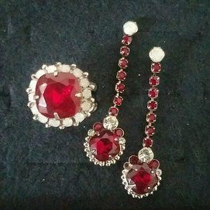 Sorrelli ruby dangle earrings